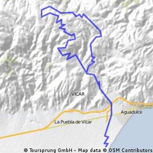 Cruce de Felix - El Marchal - La Chanata - Felix - La Envía - Roquetas