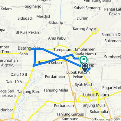 Route to Jalan Ps.V Kebun Kelapa 28, Kecamatan Beringin