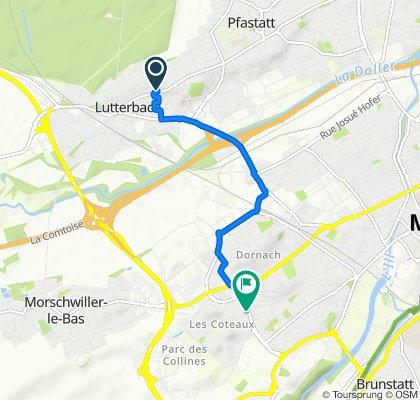 De 73 Rue Aristide Briand, Lutterbach à 25 Boulevard des Nations, Mulhouse