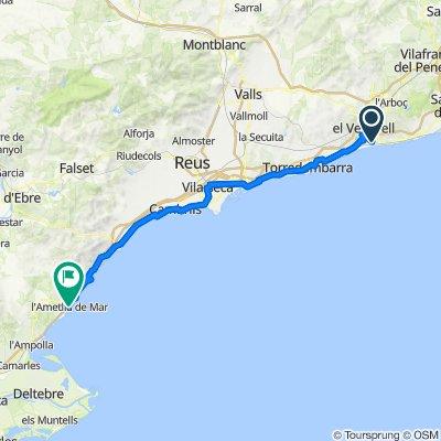 Carrer del Montsià, 30–38, El Vendrell nach Carrer de Sant Joan, 49, L'Ametlla de Mar