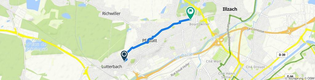De 90 Rue Aristide Briand, Lutterbach à 37 Rue du Ban, Mulhouse