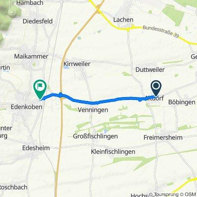 Hauptstraße 65, Altdorf nach Luitpoldstraße 61d, Edenkoben