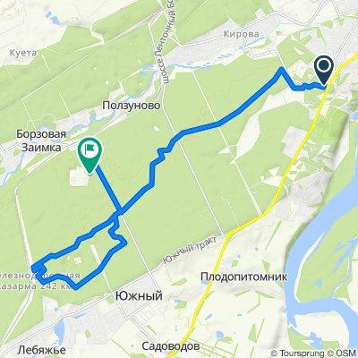 От Лыжня Здоровья, Барнаул до Лесной тракт, 63, Барнаул
