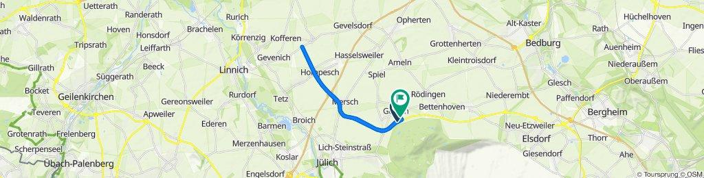 B55, Jülich to Buschfeld, Jülich
