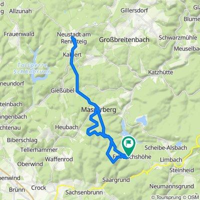 Rennsteig Friedrichshöhe nach Neustadt