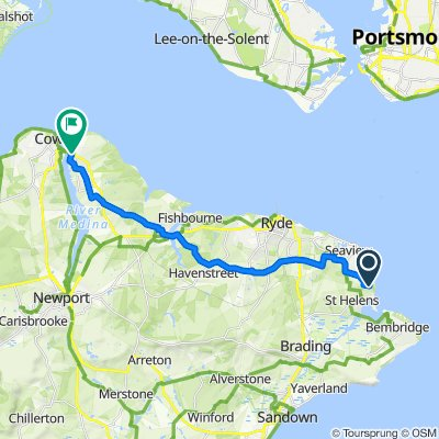 Nodes Point Holiday Park, Nodes Road, Ryde to 2–6 Clarence Road, East Cowes