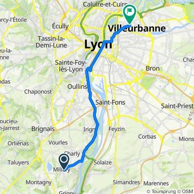 De 5 Impasse du Bouillon, Millery à 83 Avenue Roger Salengro, Villeurbanne
