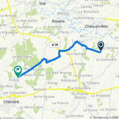 De 5 La Bichonnerie, Rouans à D66, Chéméré