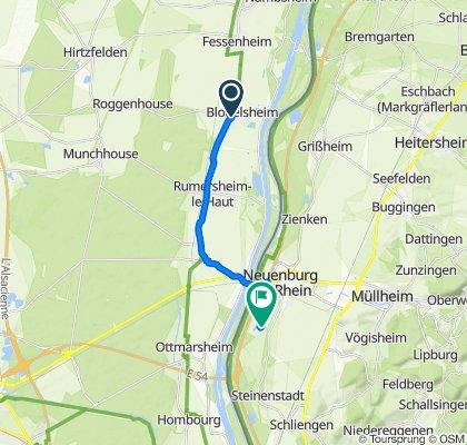 Rue du Gén de Gaulle 80, Blodelsheim to Oberer Wald 1, Neuenburg am Rhein