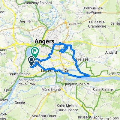 De Chemin des Trois Échelles, Sainte-Gemmes-sur-Loire à 31 Rue Préaubert, Angers