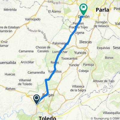 De Vereda de Bargas, Toledo a Avenida de Cañada Toledana, 36, Griñón