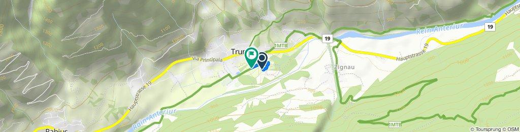 Via Campadi 2, Trun nach Via d'Industria 8, Trun