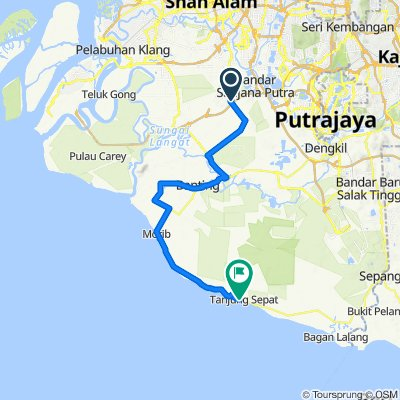 Jenjarom to Tanjung Sepat