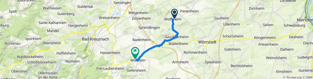 Zum Tal 2, Wolfsheim nach Hochstraße 2, Wöllstein