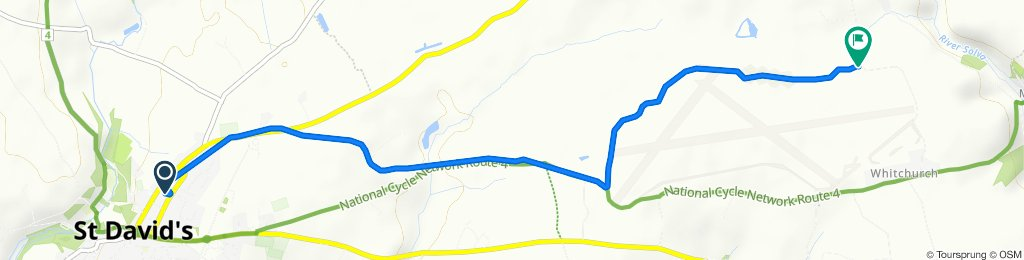 Route from 41 New Street, Haverfordwest