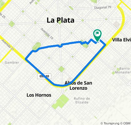 De Calle 9 1812, La Plata a Calle 9 1805, La Plata