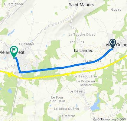 De 2–4 Rue de la Borgnette, Vildé-Guingalan à 8B Rue des Rouairies, Plélan-le-Petit