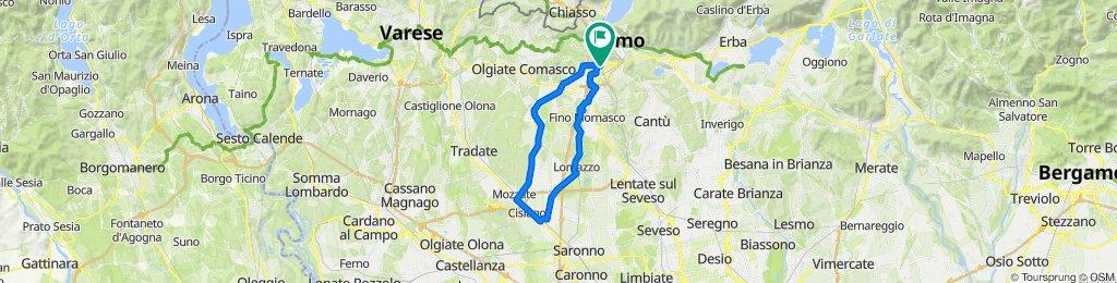 Da Via Varesina 249, Como a Viale Giuseppe Di Vittorio 21, Como