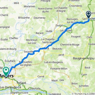 Allée de la Girouette 5, La Flèche to Place du Ralliement 8, Angers