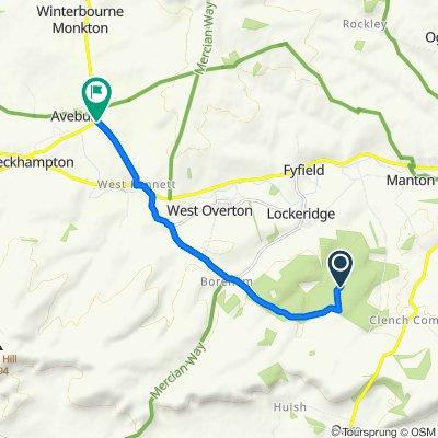 Route to Beckhampton Road, Marlborough