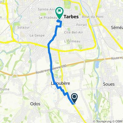 De Route du Pic du Midi, Horgues à 22 Avenue du Régiment de Bigorre, Tarbes