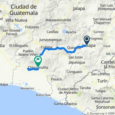 Vuelta a Guatemala inventada etapa 3 Jutiapa- Taxisco- Chiquimulilla