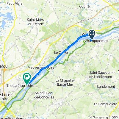 De D751, Champtoceaux à Chemin de Halage, Thouaré-sur-Loire