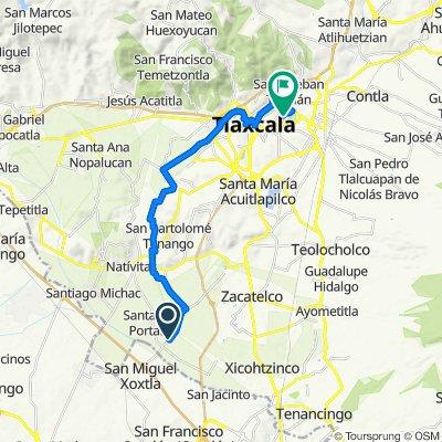 De Valquirico a Av pinos San Buenaventura Atempan, Tlaxcala de Xicohténcatl