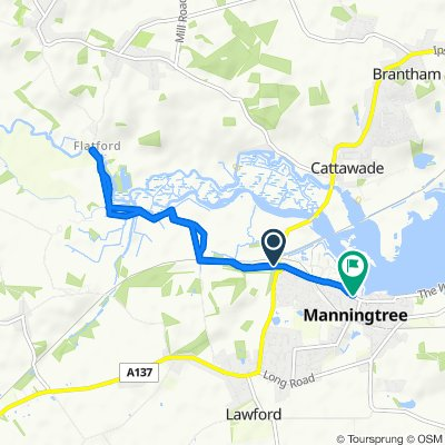 Restful route in Manningtree