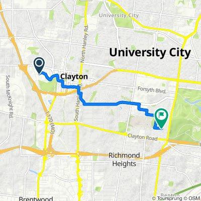 50 Gay Ave, Clayton to 6306 Southwood Ave, Clayton