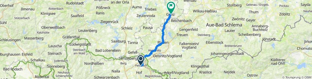 Weidigstraße 3, Feilitzsch nach Oettlerstraße 13, Greiz