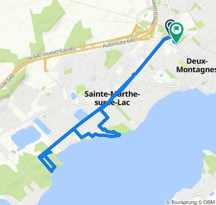 Rue Edmond-Lefebvre, Deux-Montagnes to 420 19e Avenue, Deux-Montagnes