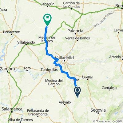 Etapa 2 Camino Santiago: Nava-Simancas-Medina de Rioseco-Villalón de Campos