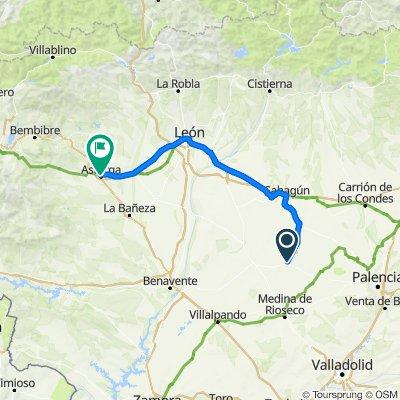 Etapa 3 Camino Santiago: Villalón-Sahagún-Mansilla de las Mulas-León-Astorga