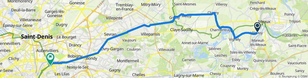 De 6 Place du Maréchal Foch, Villenoy à 28 Galerie de la Villette, Paris