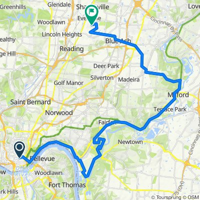 Downtown to Evendale - Lunken Route