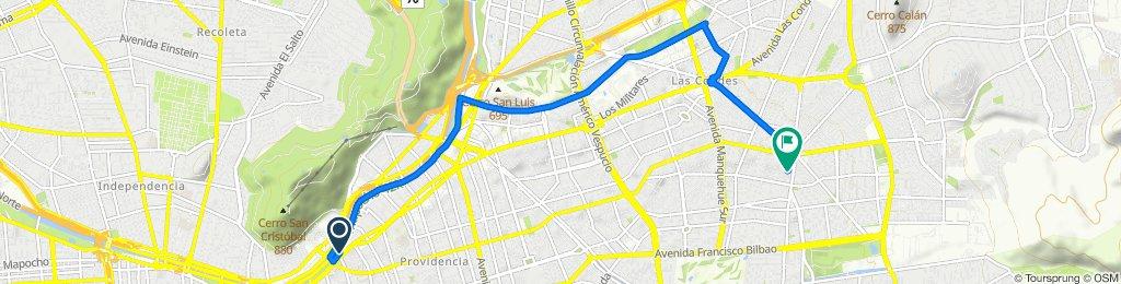 De Avenida Providencia, Providencia a Río de la Plata 1213, Las Condes