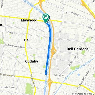 5950 Walker Ave, Maywood to 5047–5199 E 59th Pl, Maywood