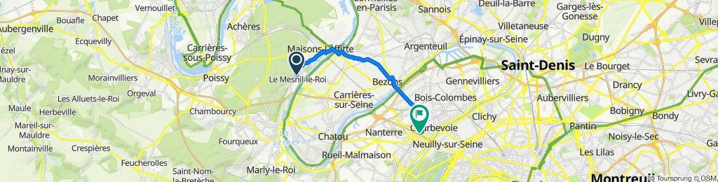 De 24 Chemin du Haut de Vaux, Le Mesnil-le-Roi à Avenue de la Division Leclerc, Courbevoie