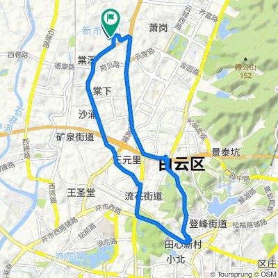 Route from 棠安雅居, 广州市