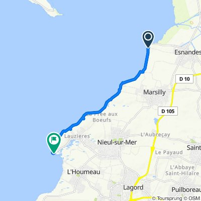 D106e2, Esnandes naar D106e1, Nieul-sur-Mer