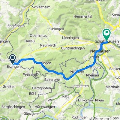 Degernauer Straße 61, Klettgau nach Stadthausgasse 19, Schaffhausen