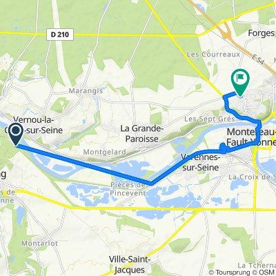 De Rue Joule, Ecuelles à 8bis Sente de la Maison Garnier, Montereau-Fault-Yonne