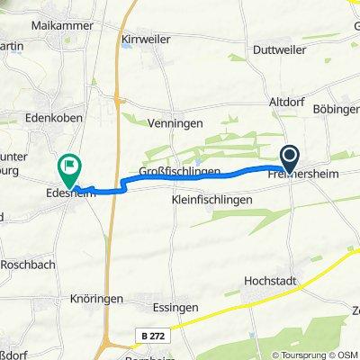 Hauptstraße 2, Freimersheim (Pfalz) nach Speyerer Straße 1, Edesheim
