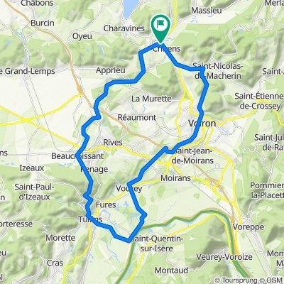 De Route du Bourg 719, Chirens à Route du Bourg 719, Chirens