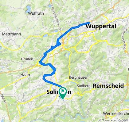 Goebenstraße 5, Solingen nach Goebenstraße 3, Solingen