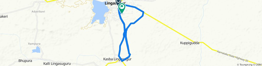 Route from NH 150A, Lingsugur