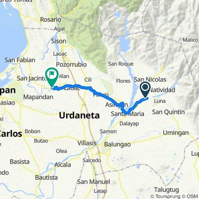 Tayug - San Quintin Road 128 to Limos Street, Manaoag