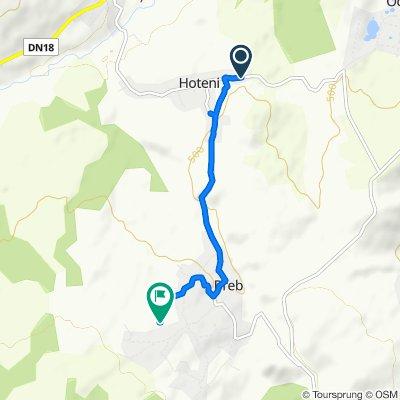 DJ185, Hoteni to Unnamed Road, Breb