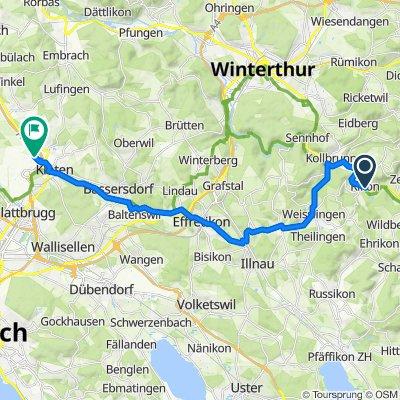Spiegelacker 6, Rikon im Tösstal nach Bimenzältenstrasse 87, Kloten